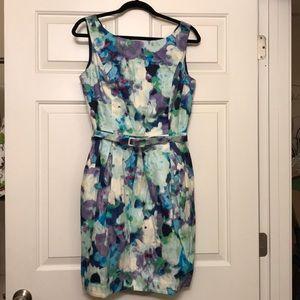 Eliza J belted sheath dress